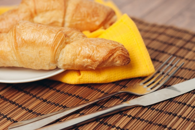Rogaliki, śniadanie rano