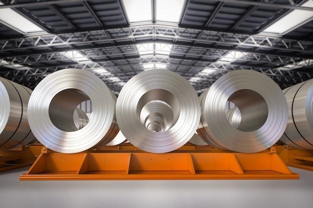 Rolka renderująca 3d blach stalowych w fabryce