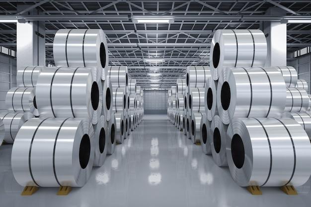 Rolka renderująca 3d z blachy stalowej w fabryce