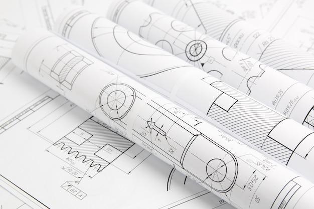 Rolki papierowe rysunki techniczne mechanizmów i maszyn