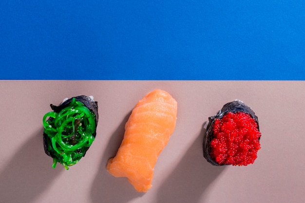 Rolki sushi z kopią miejsca