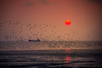Romansowy zachód słońca w Bang Poo.