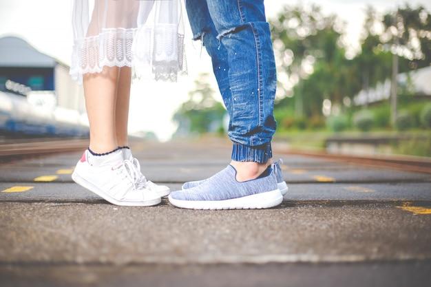 Romantyczna data, koncepcja ślubu lub walentynki.