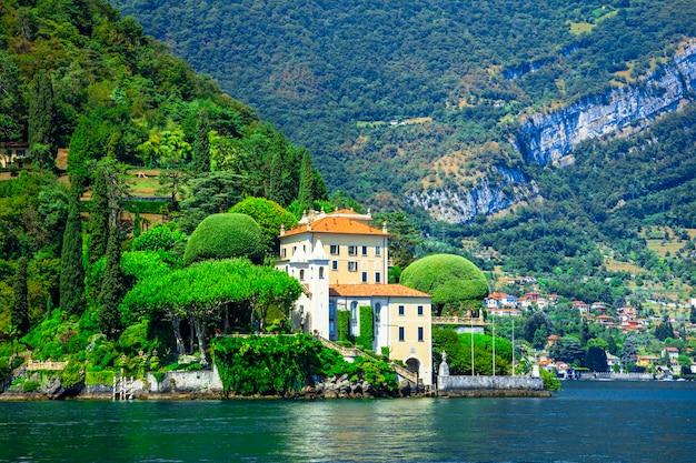 Romantyczne lago di como, villa del balbinello