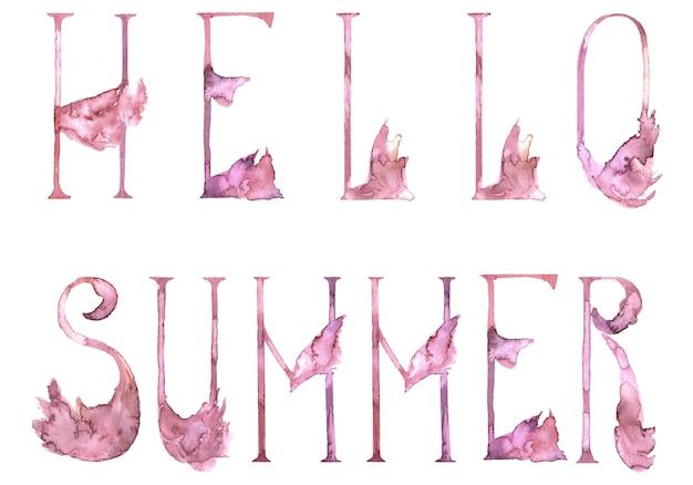 Romantyczne litery alfabetu pink flamingo