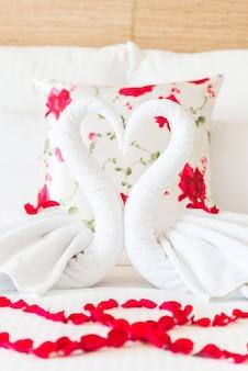 Romantyczne łóżko