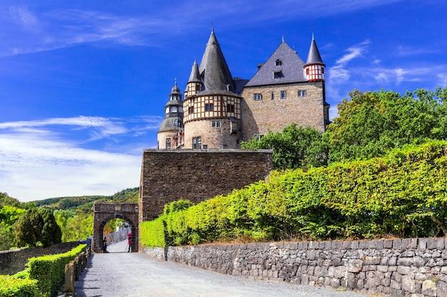 Romantyczne średniowieczne zamki niemiec, buerreshein