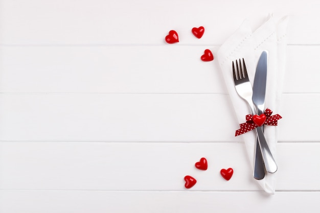 Romantyczny stół ustawienie