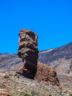 Roque cinchado, park narodowy teide, teneryfa, wyspy kanaryjskie, hiszpania