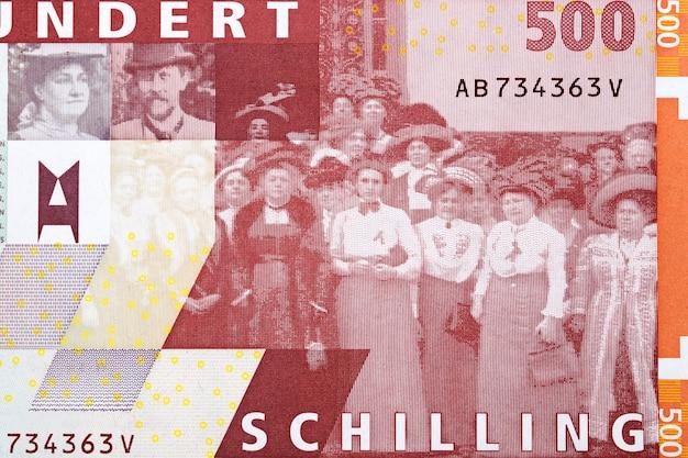 Rosa i karl mayreder z grupą z austriackich pieniędzy
