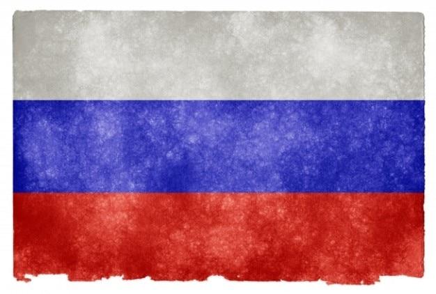 Rosja grunge flag