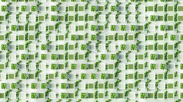 Roślin zielony koncepcja renderowania 3d ilustracji