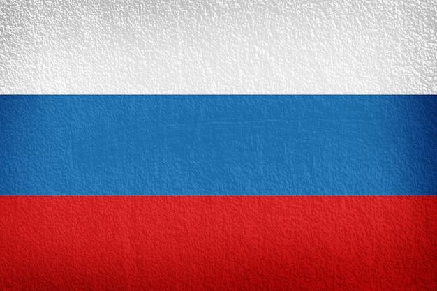 Rosyjska flaga malująca na ścianie
