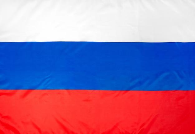 Rosyjska flaga z bliska dzień rosji