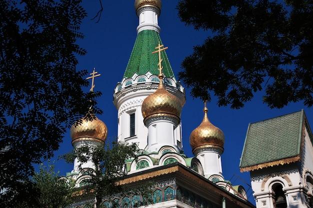 Rosyjski kościół świętego mikołaja, tsurkva sveta nikolai w sofii, bułgaria