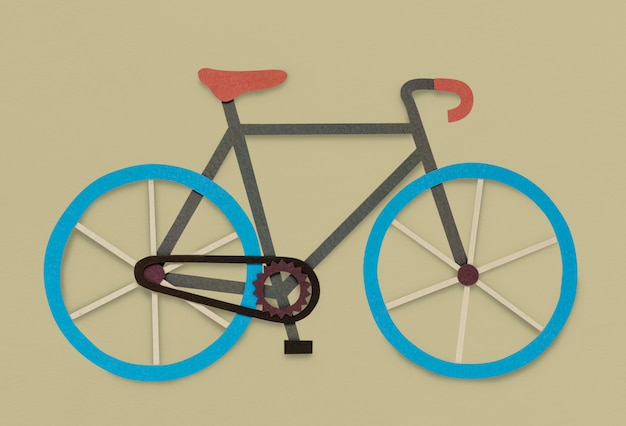 Rowerowy rower hobby ikona symbol