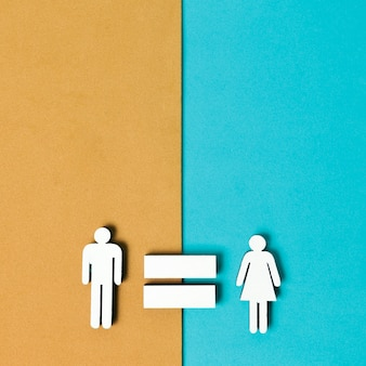 Równość mężczyzny i kobiety kolorowe tło