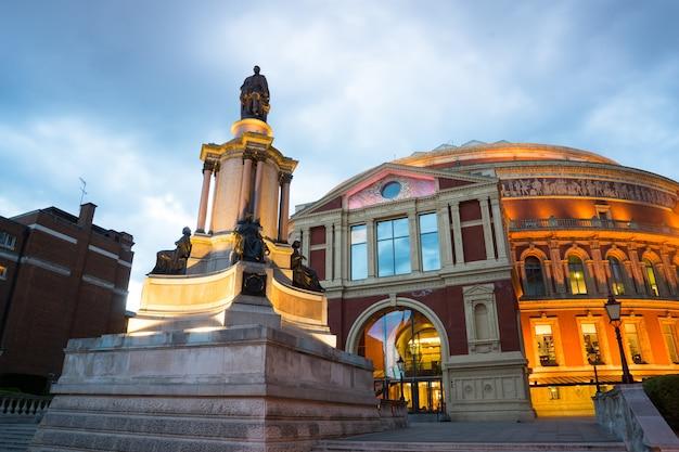 Royal albert hall theatre w londynie, anglia