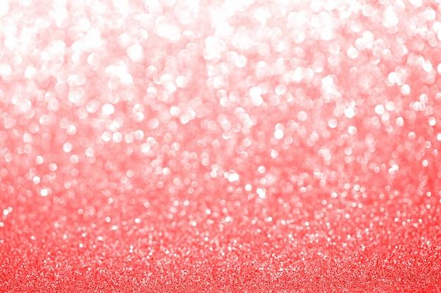 Róża różowy i czerwony niewyraźne brokat tło. lśniąca i błyszcząca tekstura na święta bożego narodzenia lub walentynki. sezonowa dekoracja tapety