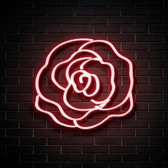 Różany neon