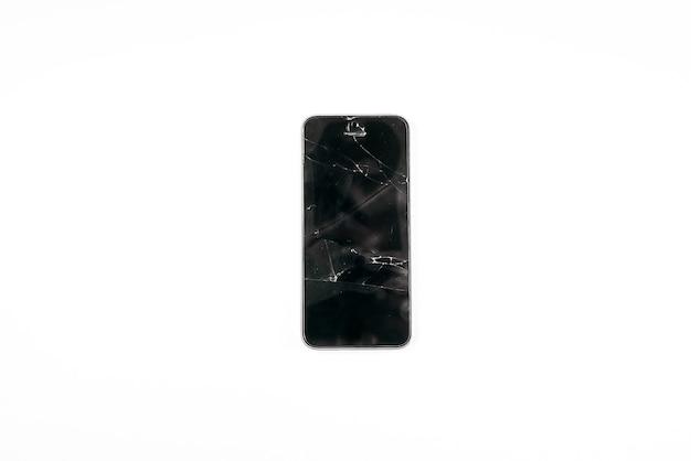 Rozbity szklany ekran telefonu komórkowego