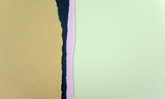 Rozdrobnione papiery abstrakcyjne tekstury tła brązowy ciemnoniebieski fioletowy i zielony pergamin