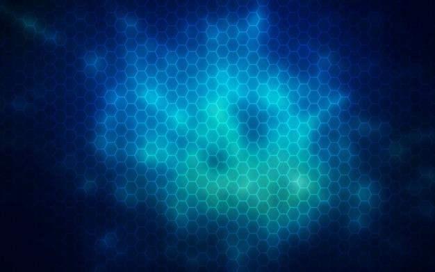Rozjarzony sześciokąt, nano technology abstrakcyjne tło