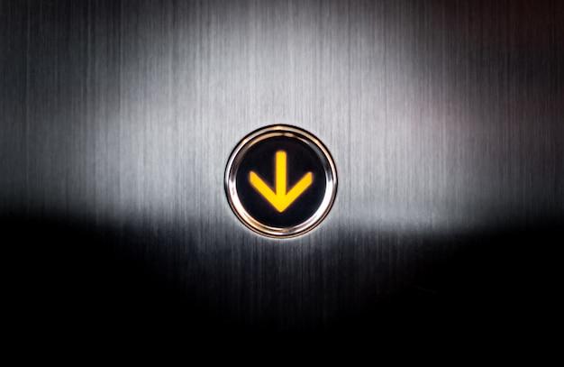 Rozjaśnij przycisk zejścia do windy elevetor