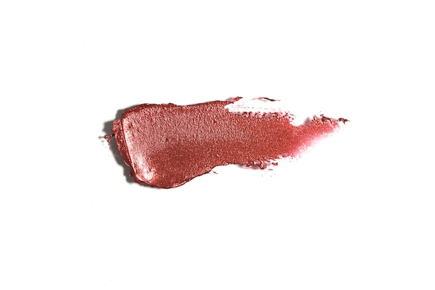 Rozmazana szminka o abstrakcyjnej teksturze z góry