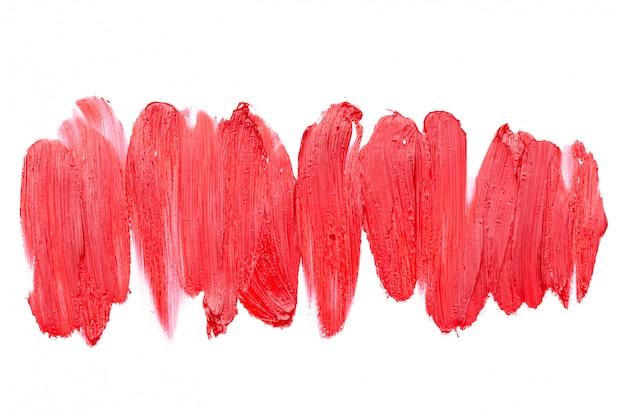 Rozmazane szminki na białym tle