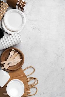 Rozmieszczenie ekologicznych przyborów kuchennych