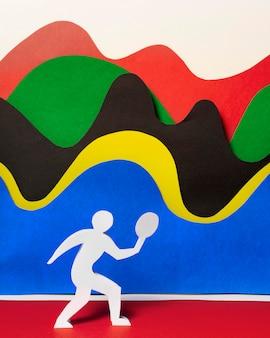 Rozmieszczenie kształtów olimpijskich w stylu papieru