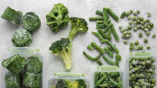 Rozmieszczenie mrożonej zielonej żywności