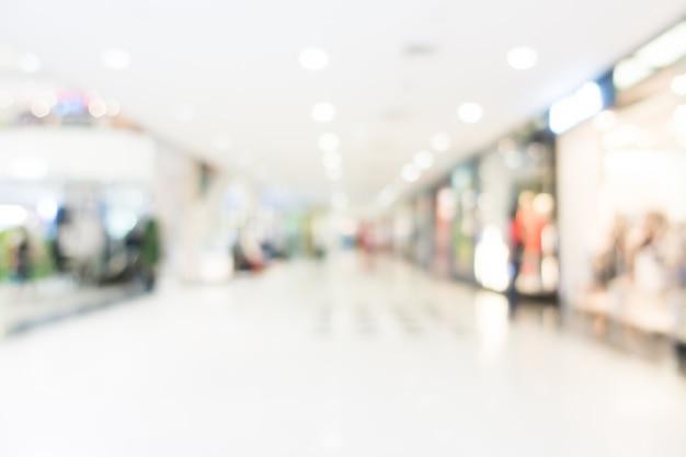 Rozmycie centrum handlowego