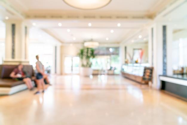 Rozmycie lobby luksusowego hotelu