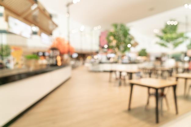 Rozmycie strefy gastronomicznej w centrum handlowym