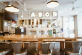 Rozmycie streszczenie i defocused w kawiarni restauracja na tle