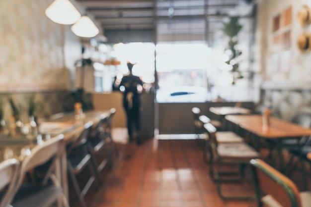 Rozmycie streszczenie i rozmycie w kawiarni i kawiarni na tle