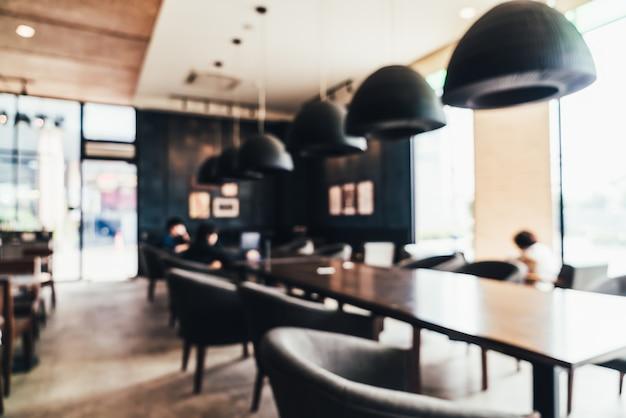 Rozmycie streszczenie i rozmyte sklep z kawą i kawiarnią