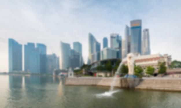 Rozmycie tła: punkt orientacyjny singapuru