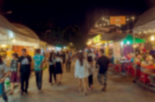 Rozmycie tła rynku nocy
