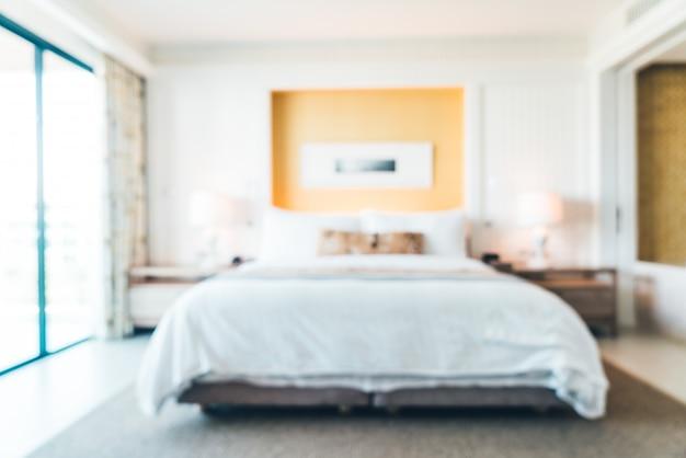 Rozmycie w pokoju hotelowym