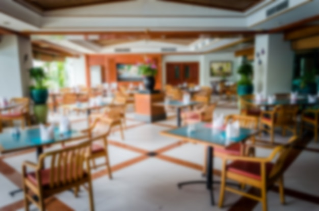 Rozmyj krzesło restauracji