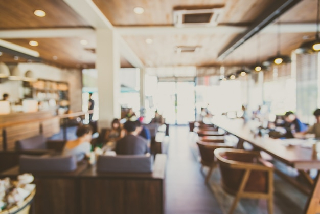 Rozmyte tło wnętrze restauracji shop