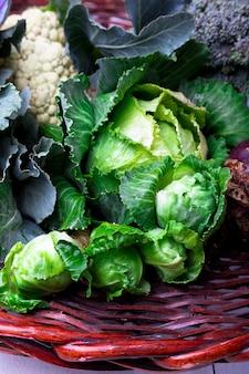 Różne kalafior z brokułów kapuścianych.