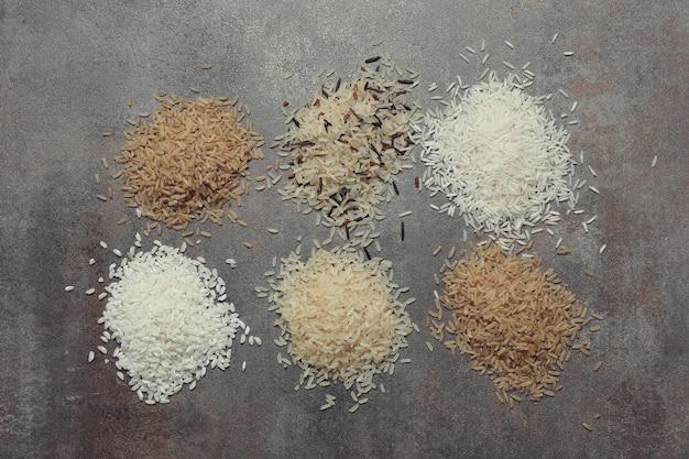 Różne rodzaje ryżu