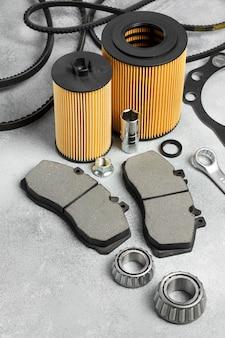 Różne rozmieszczenie akcesoriów samochodowych