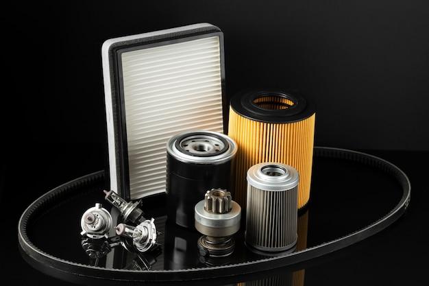 Różne składy akcesoriów samochodowych