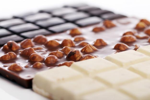 Różne tabliczki czekolady