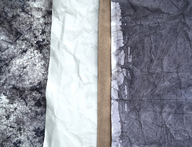 Różne tekstury starego papieru